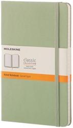 Notitieboek Moleskine large 210X130mm gelinieerd groen