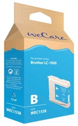 Inkcartridge Wecare Brother LC-1000 blauw