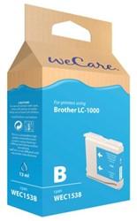 Inkcartridge Wecare Brother LC-1000 blauw