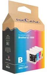 Inkcartridge Wecare Brother LC-1000 zwart + 3 kleuren