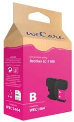 Inkcartridge Wecare Brother LC-1100 rood