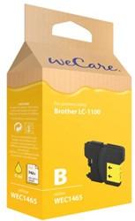 Inkcartridge Wecare Brother LC-1100 geel