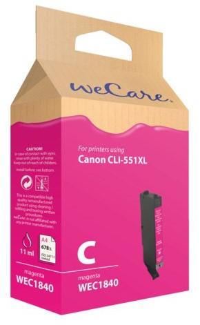 Inkcartridge Wecare Canon CLI-551XL rood