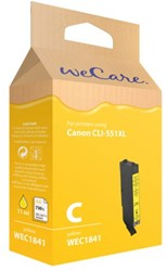 Inkcartridge Wecare Canon CLI-551XL geel