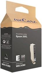 Inkcartridge Wecare Epson T263140 foto zwart HC
