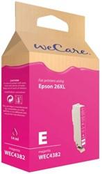 Inktcartridge Wecare Epson T263340 rood HC