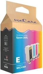 Inkcartridge Wecare Epson T263640 zwart + 3 kleuren HC