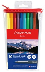 Brushstift Caran d' Ache aquarel Fibralo ass set à 10st