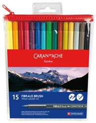 Brushstift Caran d' Ache aquarel Fibralo ass set à 15st