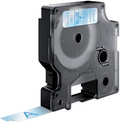 Labeltape Dymo 45011 D1 720510 12mmx7m blauw op transparant