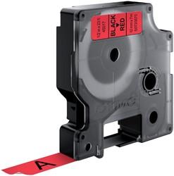 Labeltape Dymo 45017 D1 720570 12mmx7m zwart op rood