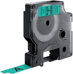 Labeltape Dymo 45019 D1 720590 12mmx7m zwart op groen