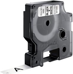 Labeltape Dymo 16955 D1 718060 12mmx5.5m poly zwart op wit
