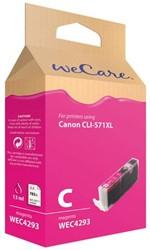 Inkcartridge Wecare Canon CLI-571XL rood