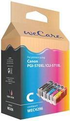 Inkcartridge Wecare Canon PGI-570XL CLI-571XL zwart + kleur