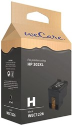 Inkcartridge Wecare HP 302XL F6068AE zwart