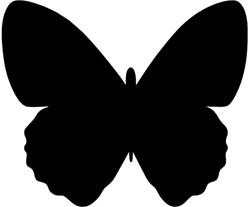 Krijtbord Securit  vlinder 36x30cm