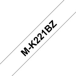 Labeltape Brother P-touch M-K221 9mm zwart op wit