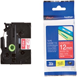 Labeltape Brother P-touch TZE-435 12mm wit op rood