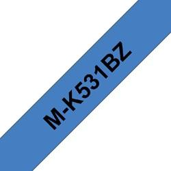 Labeltape Brother P-touch M-K531BZ 12mm zwart op blauw
