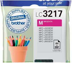 Inktcartridge Brother LC-3217M rood