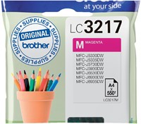 Inkcartridge Brother LC-3217M rood