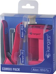 Perforator Nietmachine Kangaro combo pack roze