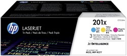 Tonercartridge HP CF253XM 201X 3 kleuren HC