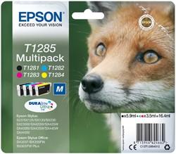 Inktcartridge Epson T1285 zwart + 3 kleuren