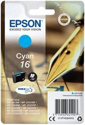 Inktcartridge Epson 16 T1622 blauw