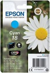 Inktcartridge Epson 18 T1802 blauw
