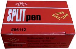 Splitpen LPC 25mm doos 100stuks goud