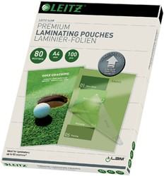 Lamineerhoes Leitz ILAM A4 2x80micron 100stuks