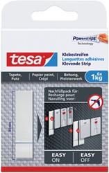 Dubbelzijdige powerstrip Tesa behang en pleisterwerk 1kg