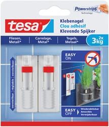 Klevende spijker Tesa tegels en metaal verstelbaar 3kg
