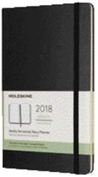 Agenda 2018 Moleskine 12 maanden pocket hard zwart