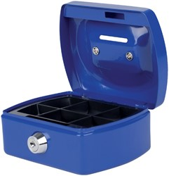 Geldkist Pavo met gleuf 125x95x60mm blauw