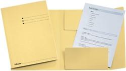 Dossiermap Esselte manilla 3klep folio geel