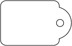 Label Apli karton nr395 45x65mm wit