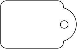 Label Apli karton nr390 22x35mm wit