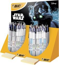 Balpen Bic 4kleuren Starwars display à 40 stuks ass