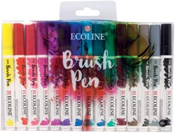 Brushpen Talens Art Creation Ecolline assorti etui à 15stuks
