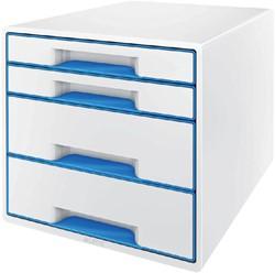 Ladenbox Leitz WOW 4 laden wit/blauw