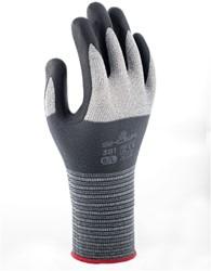 Handschoen Showa 381 grip nitril grijs 8/medium