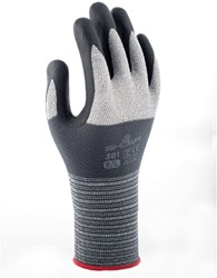 Handschoen Showa 381 grip nitril grijs 7/small