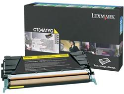 Tonercartridge Lexmark C734A1YG prebate geel