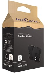 Inkcartridge Wecare Brother LC-980 zwart