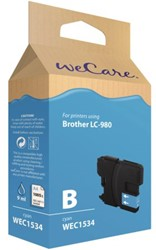 Inkcartridge Wecare Brother LC-980 blauw