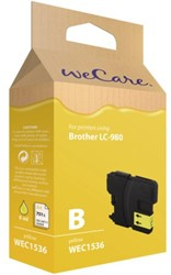Inkcartridge Wecare Brother LC-980 geel