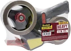 Handdozensluiter Scotch met 2rol Heavy 50mmx66m bruin